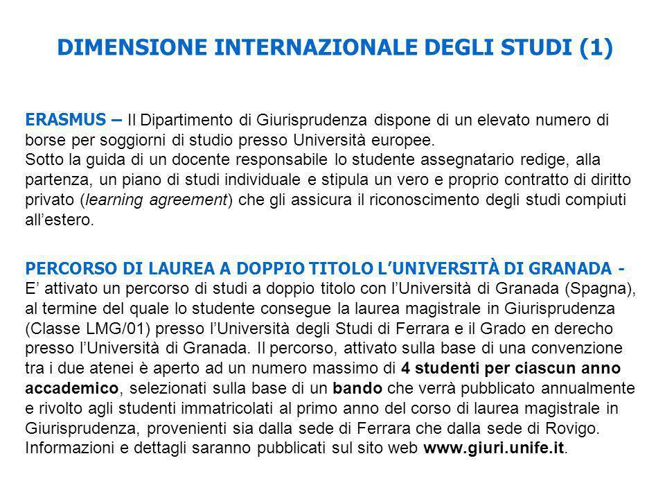 DIMENSIONE INTERNAZIONALE DEGLI STUDI (1)