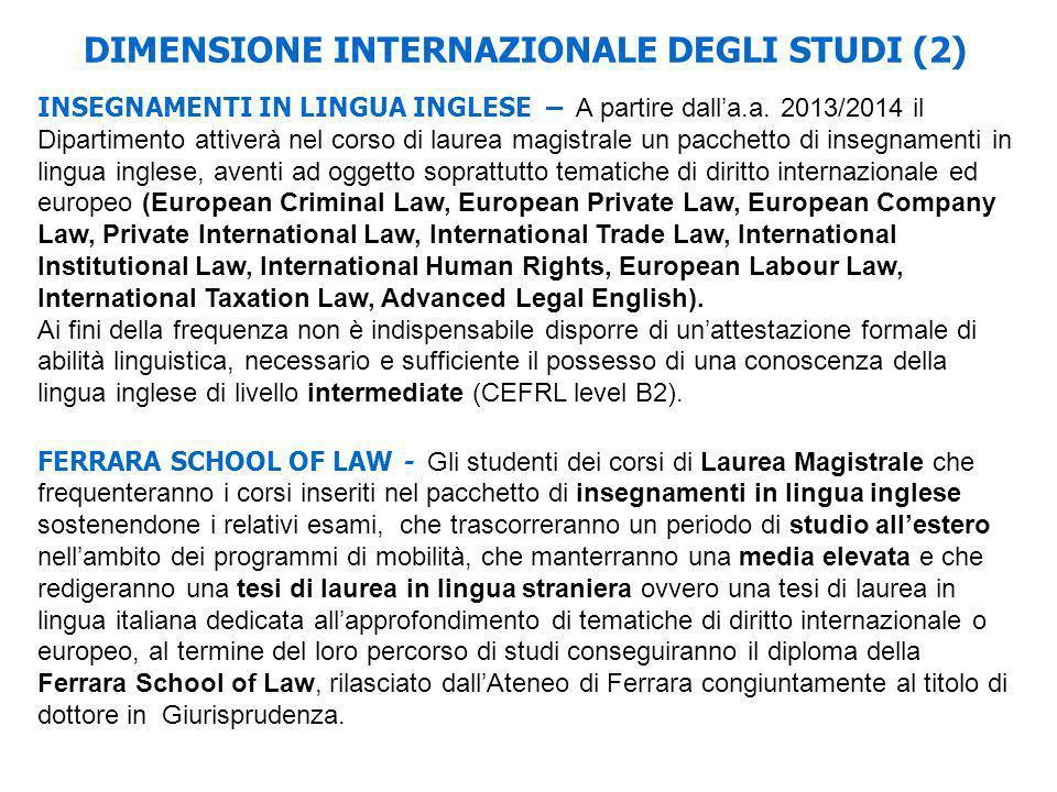 DIMENSIONE INTERNAZIONALE DEGLI STUDI (2)