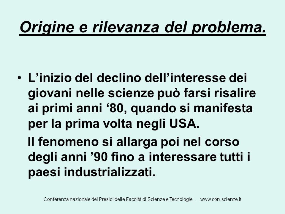 Origine e rilevanza del problema.