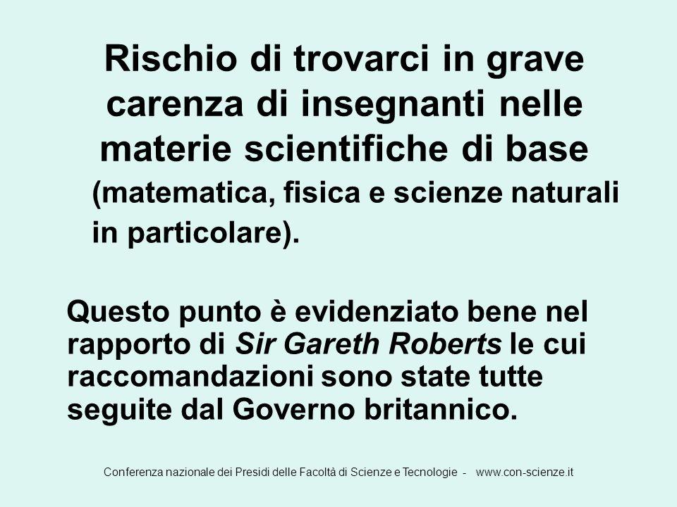 Rischio di trovarci in grave carenza di insegnanti nelle materie scientifiche di base