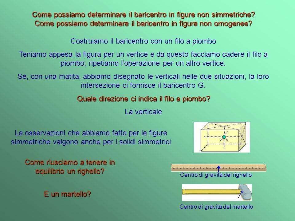 Come possiamo determinare il baricentro in figure non simmetriche