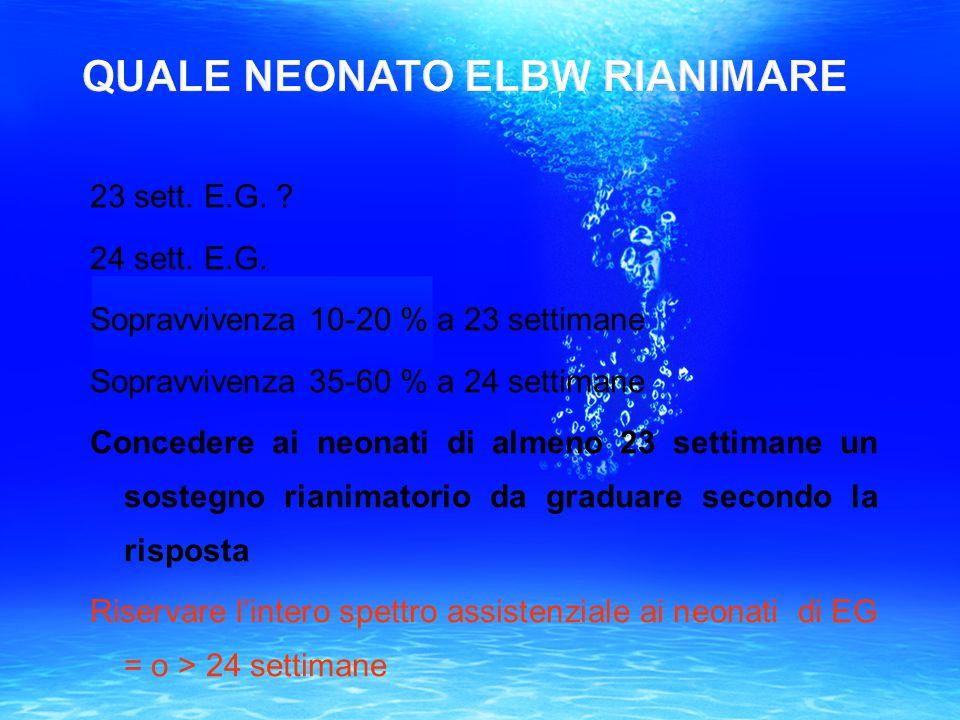 QUALE NEONATO ELBW RIANIMARE