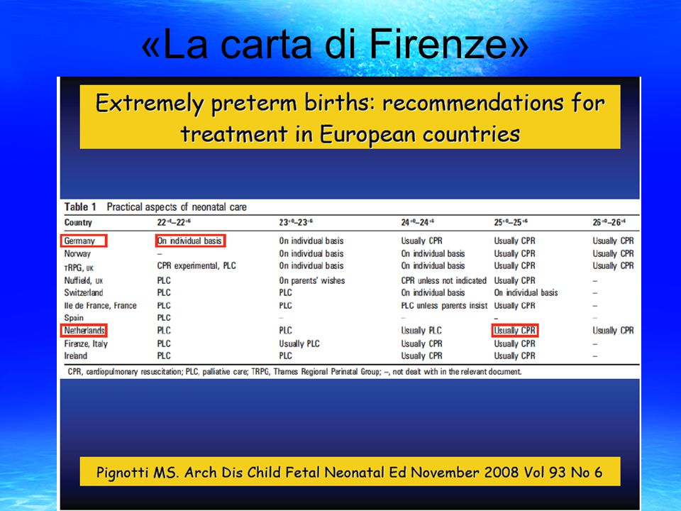 «La carta di Firenze»