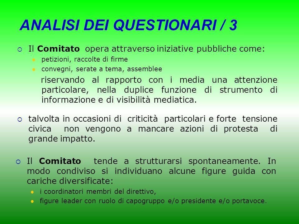 ANALISI DEI QUESTIONARI / 3