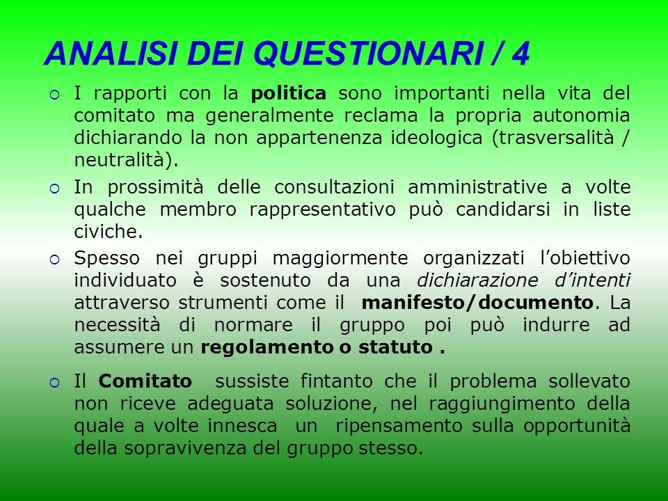 ANALISI DEI QUESTIONARI / 4
