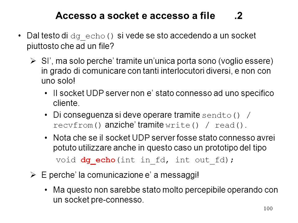 Accesso a socket e accesso a file .2
