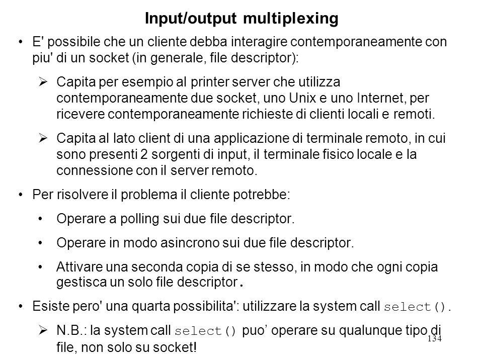 Input/output multiplexing
