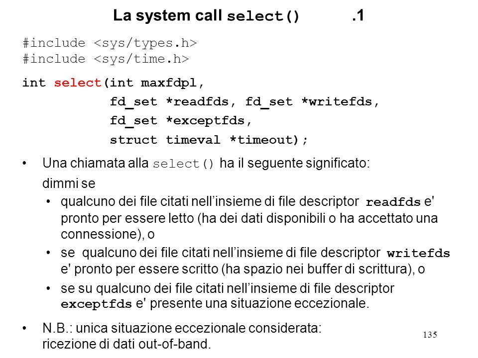 La system call select() .1