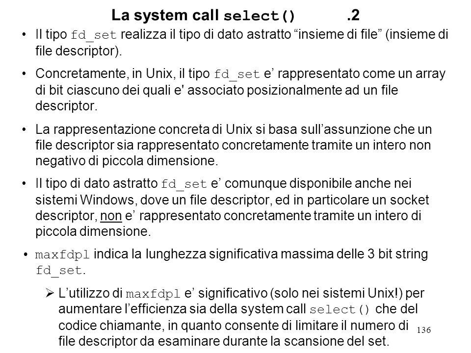 La system call select() .2