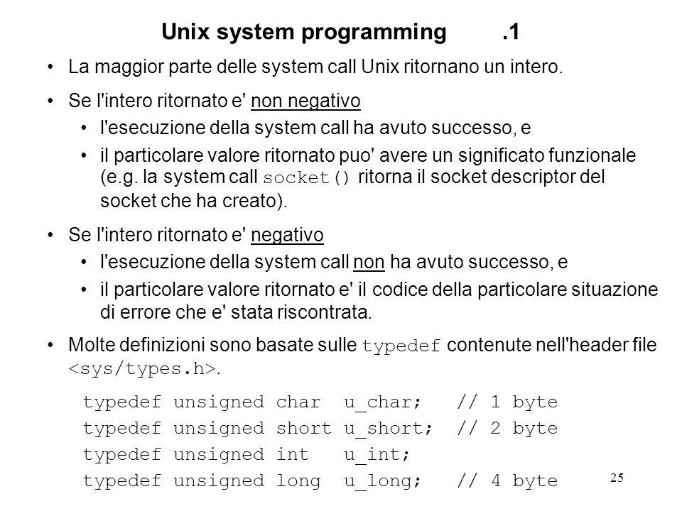 Unix system programming .1