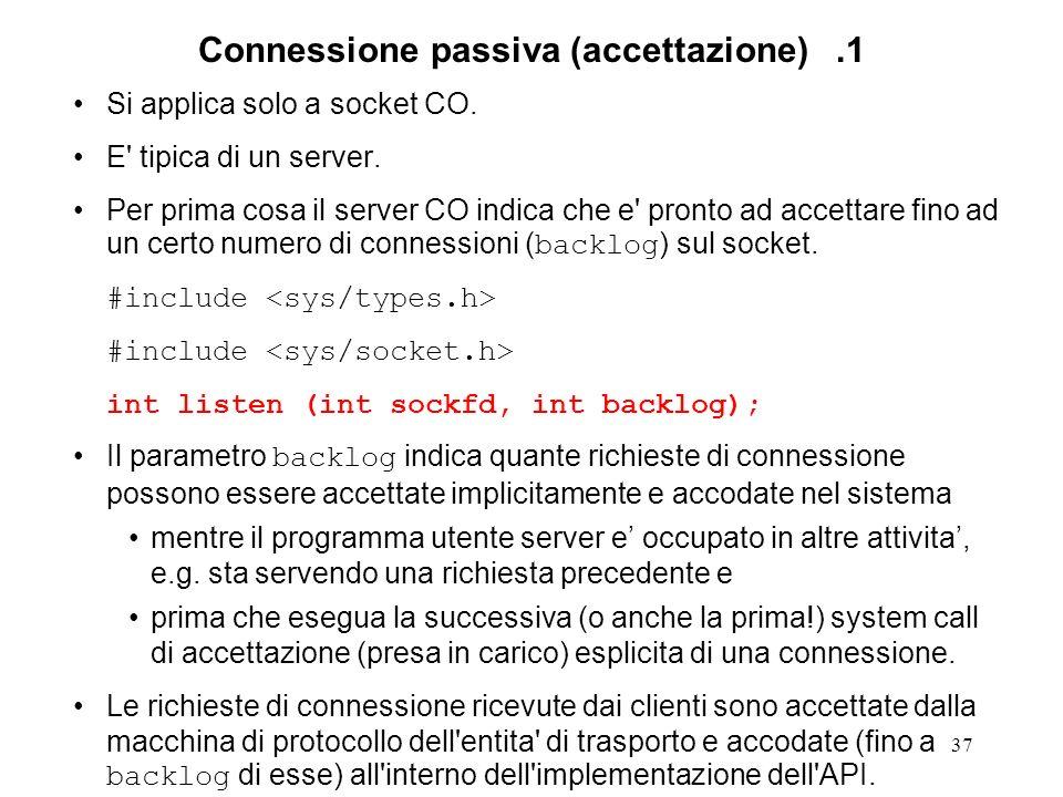 Connessione passiva (accettazione) .1