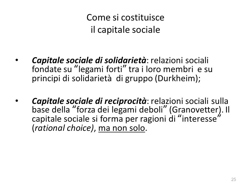 Come si costituisce il capitale sociale