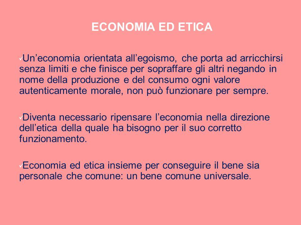 ECONOMIA ED ETICA