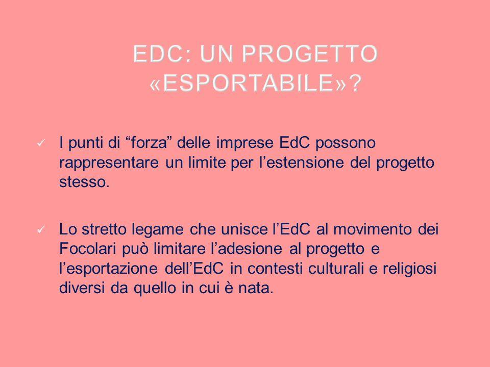 EDC: UN PROGETTO «ESPORTABILE»