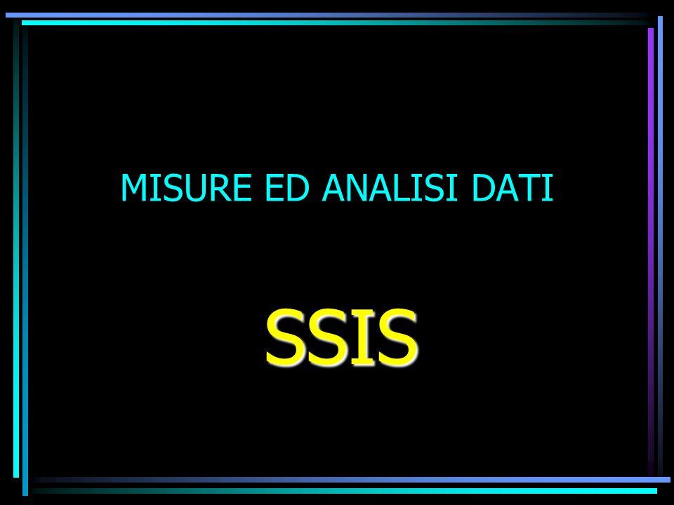 MISURE ED ANALISI DATI SSIS