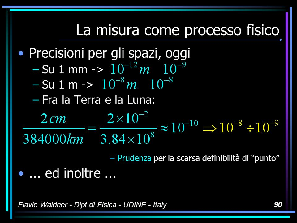 La misura come processo fisico