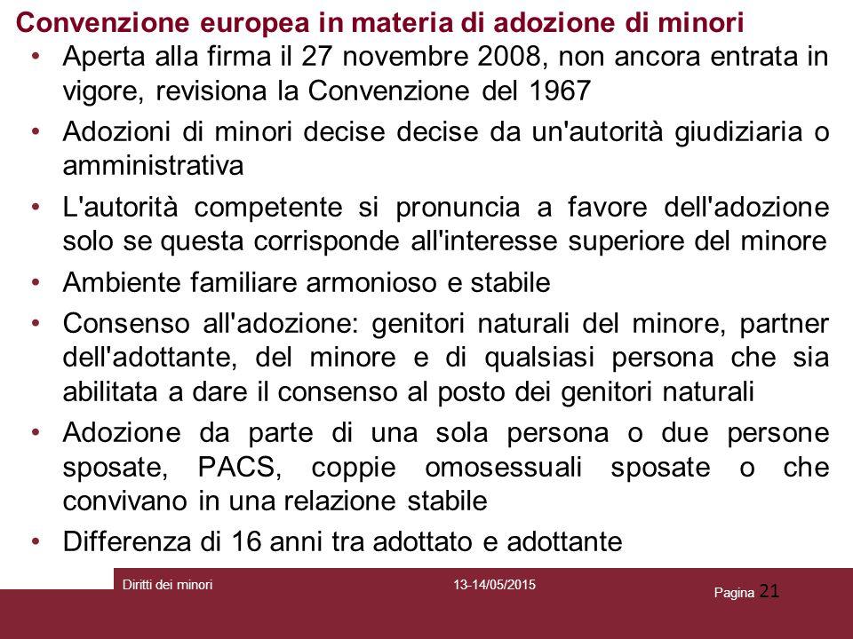 Convenzione europea in materia di adozione di minori