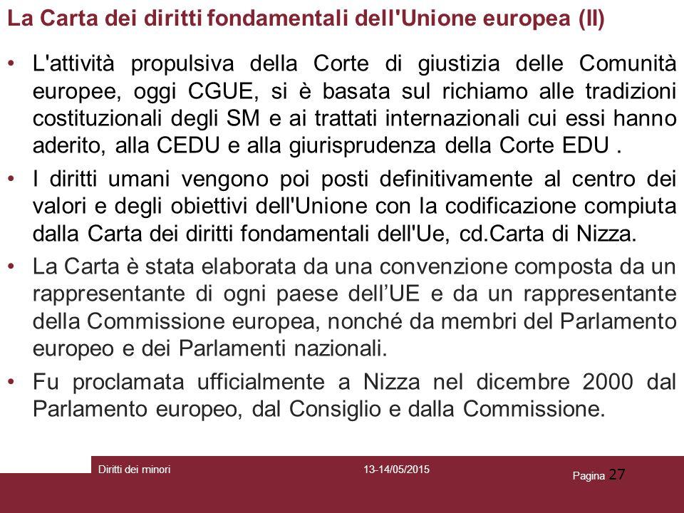 La Carta dei diritti fondamentali dell Unione europea (II)