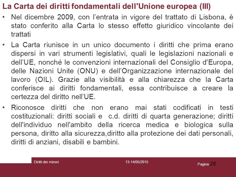 La Carta dei diritti fondamentali dell Unione europea (III)