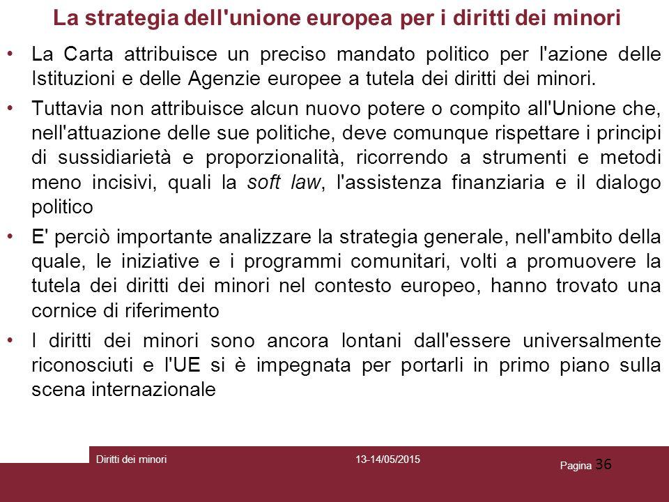 La strategia dell unione europea per i diritti dei minori