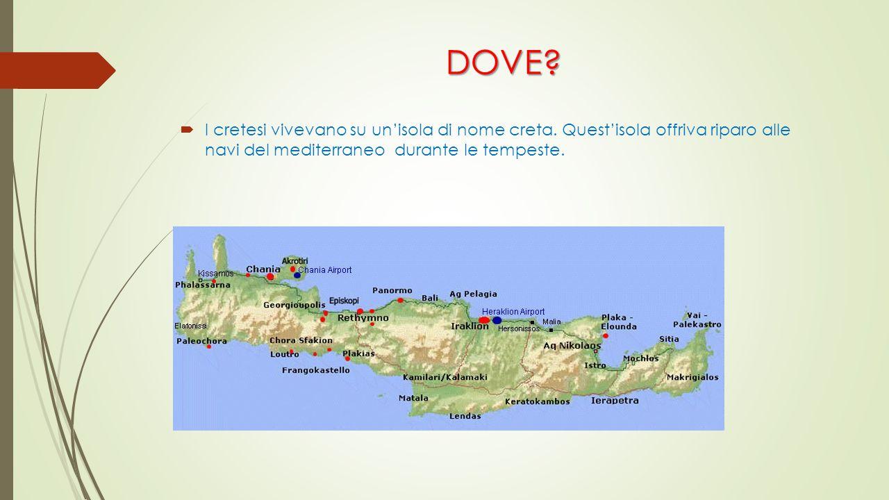 DOVE. I cretesi vivevano su un'isola di nome creta.