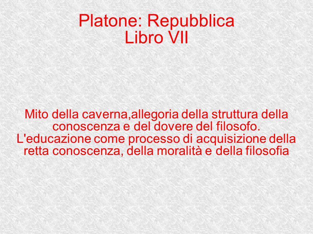 Platone: Repubblica Libro VII