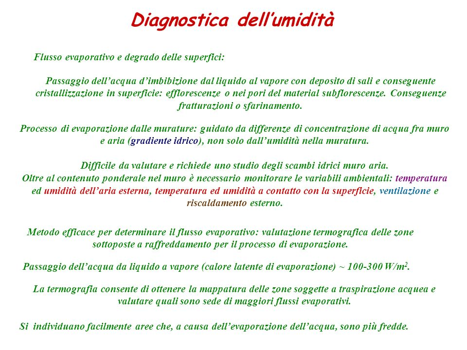 Diagnostica dell'umidità