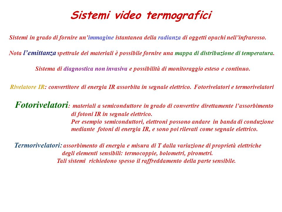 Sistemi video termografici