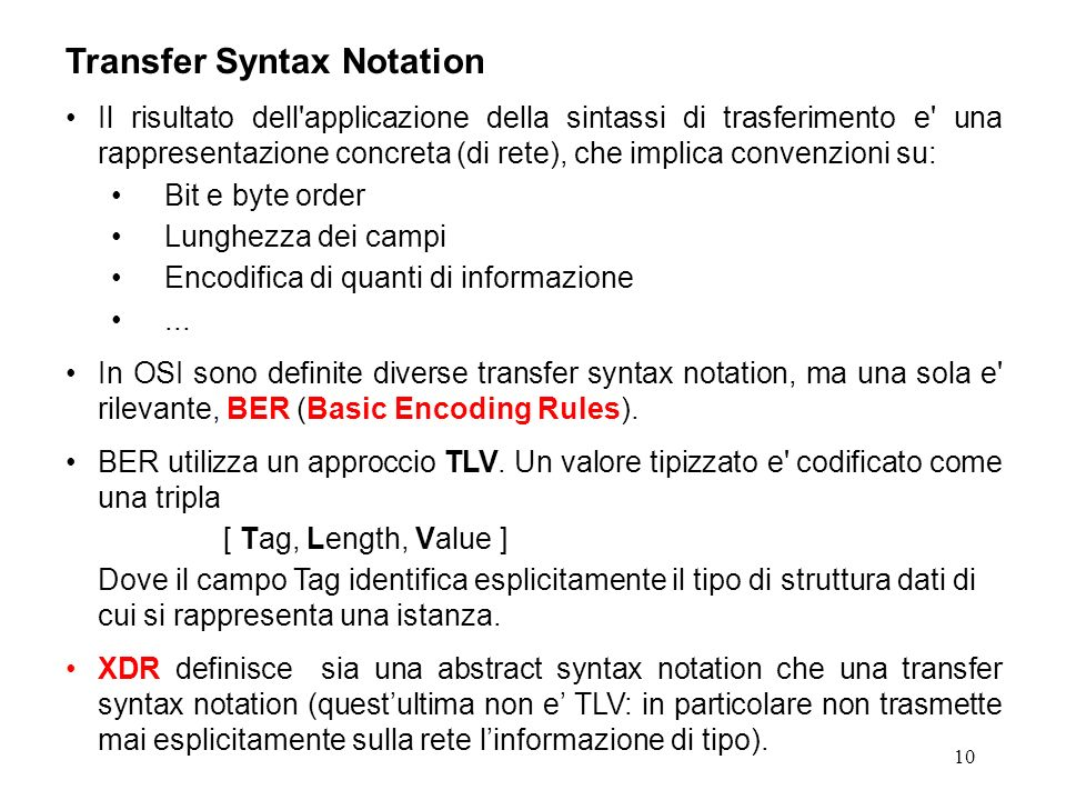 Transfer Syntax Notation