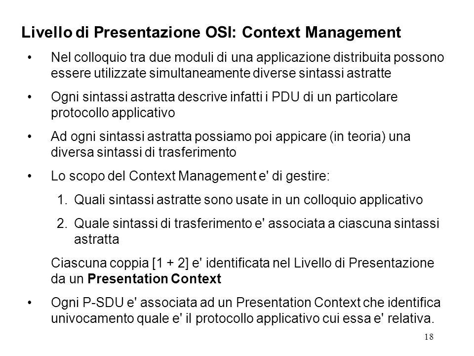 Livello di Presentazione OSI: Context Management
