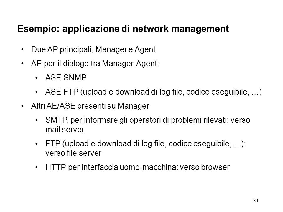 Esempio: applicazione di network management