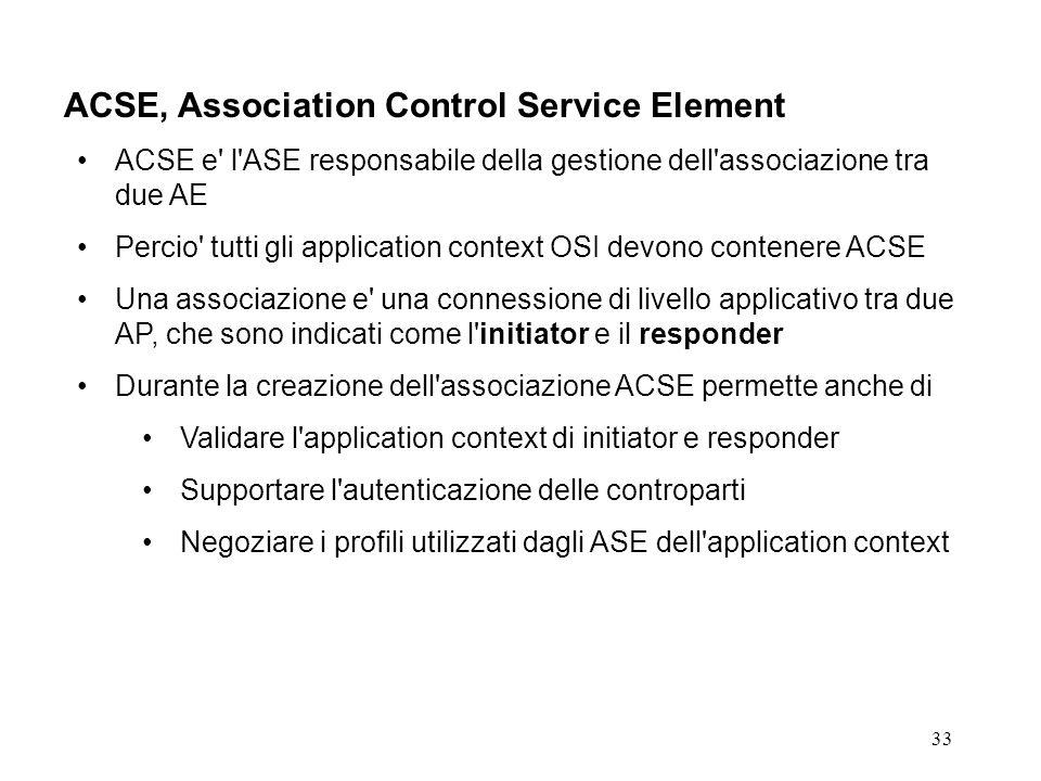 ACSE, Association Control Service Element
