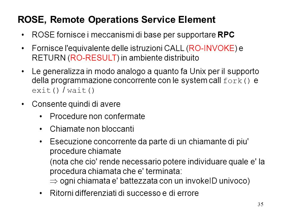 ROSE, Remote Operations Service Element