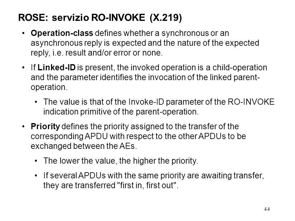 ROSE: servizio RO-INVOKE (X.219)