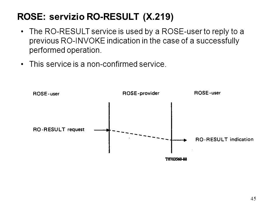 ROSE: servizio RO-RESULT (X.219)
