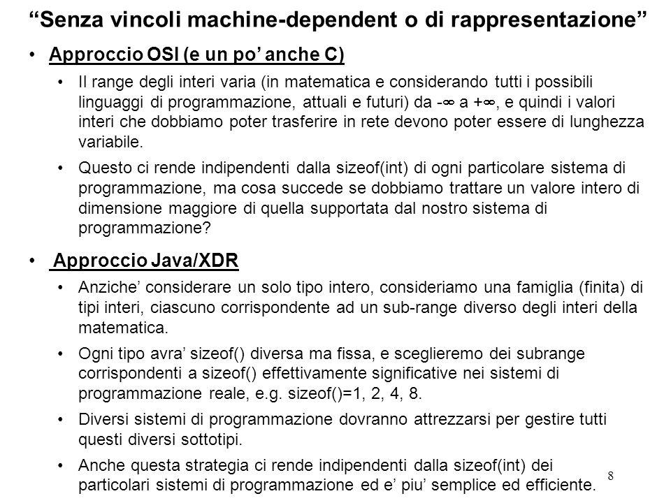 Senza vincoli machine-dependent o di rappresentazione