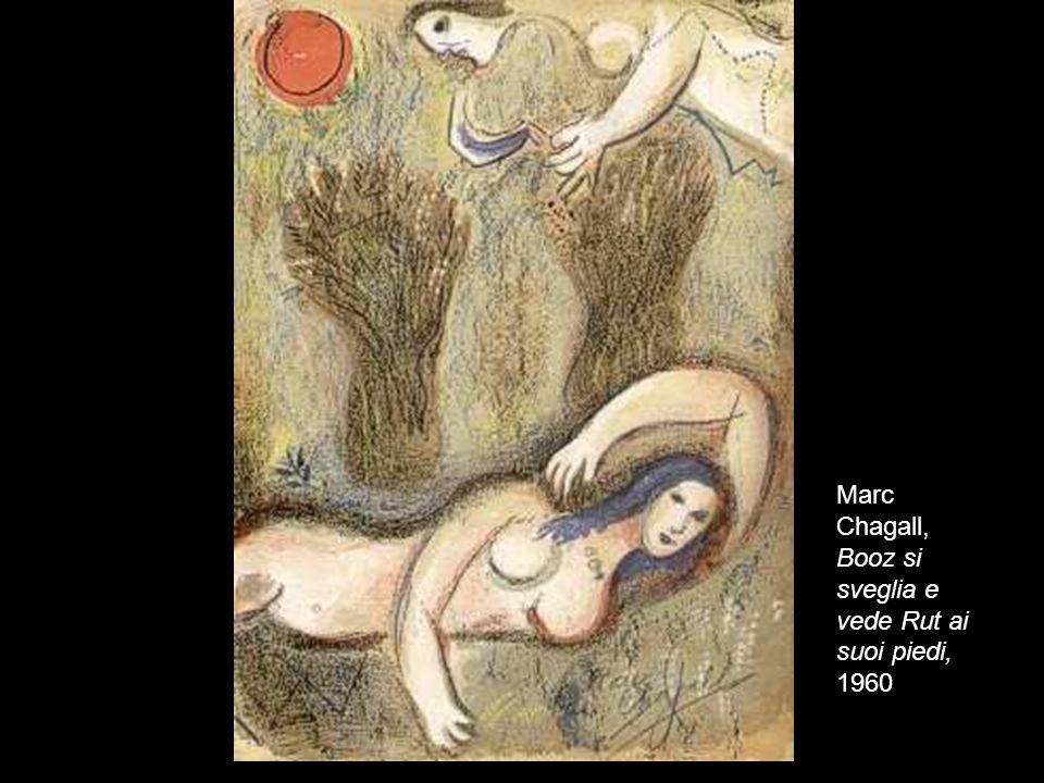 Marc Chagall, Booz si sveglia e vede Rut ai suoi piedi, 1960