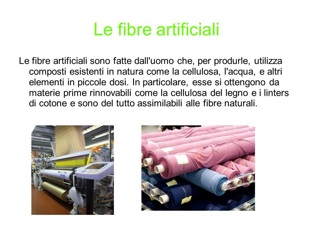 Le fibre artificiali