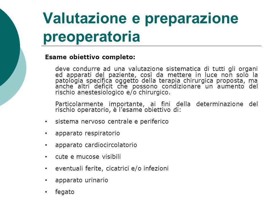 Valutazione e preparazione preoperatoria