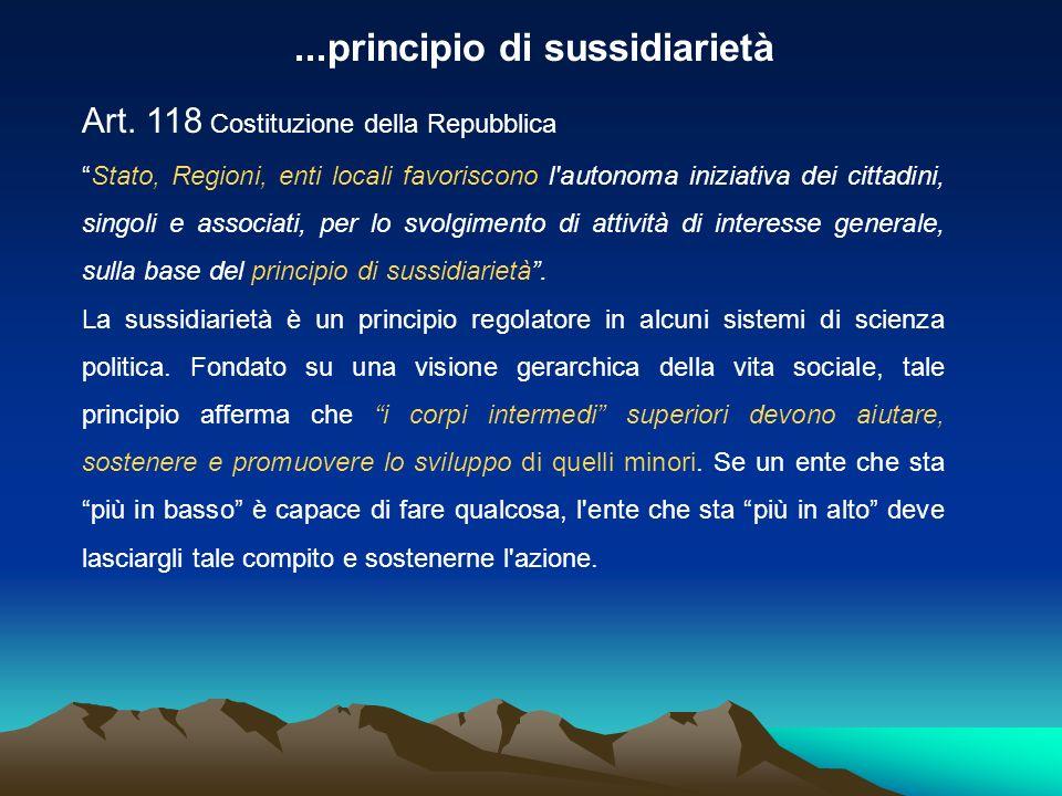 ...principio di sussidiarietà