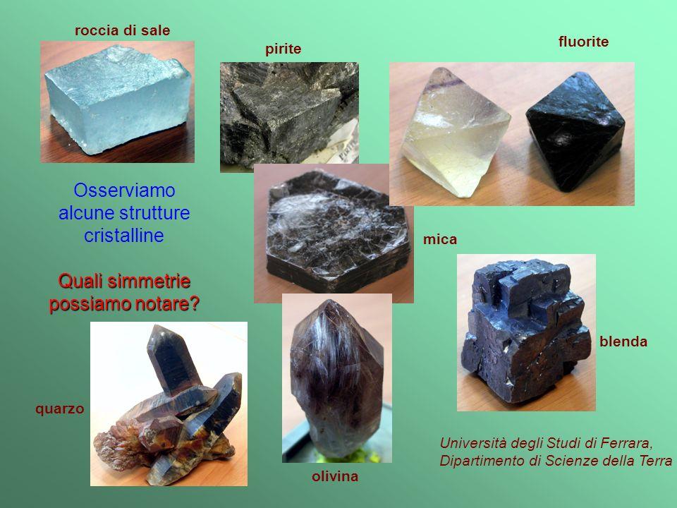 alcune strutture cristalline
