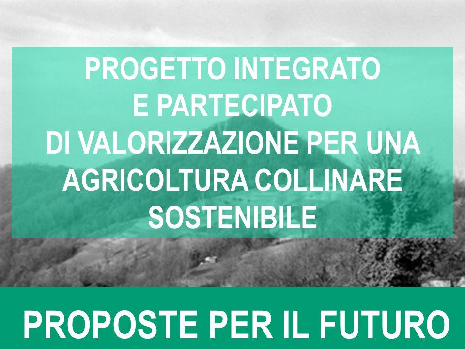 DI VALORIZZAZIONE PER UNA AGRICOLTURA COLLINARE SOSTENIBILE