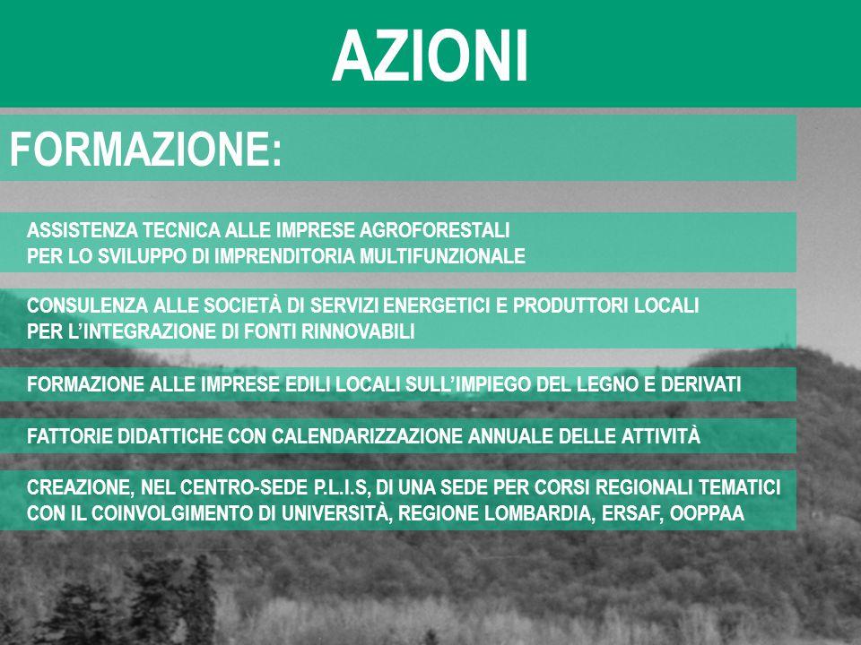 AZIONI FORMAZIONE: ASSISTENZA TECNICA ALLE IMPRESE AGROFORESTALI