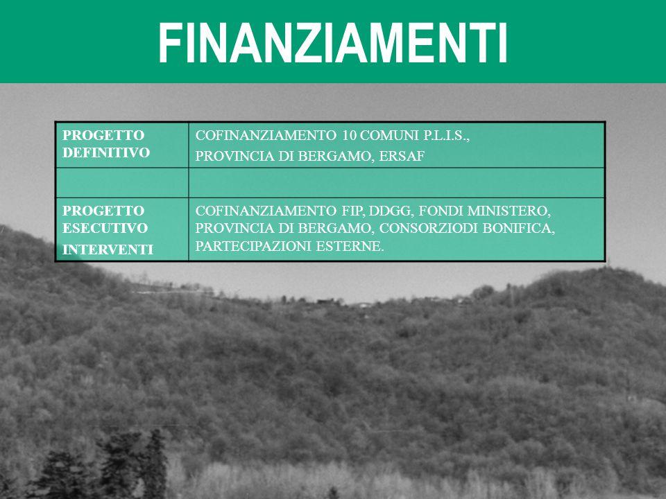 FINANZIAMENTI PROGETTO DEFINITIVO COFINANZIAMENTO 10 COMUNI P.L.I.S.,