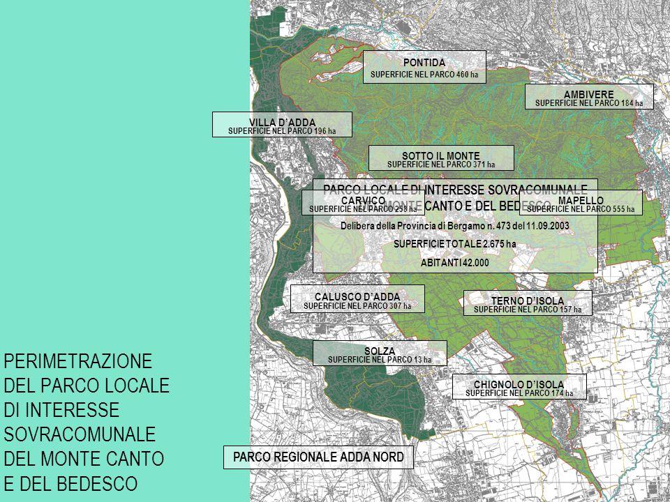 PONTIDA SUPERFICIE NEL PARCO 460 ha