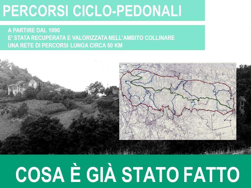 COSA È GIÀ STATO FATTO PERCORSI CICLO-PEDONALI A PARTIRE DAL 1990