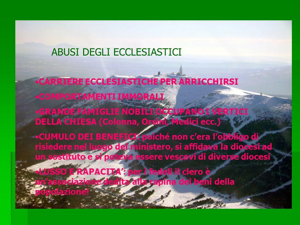 ABUSI DEGLI ECCLESIASTICI