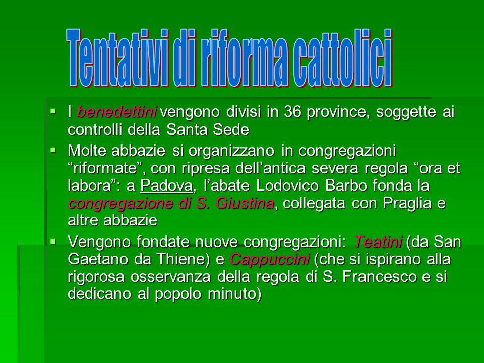 Tentativi di riforma cattolici