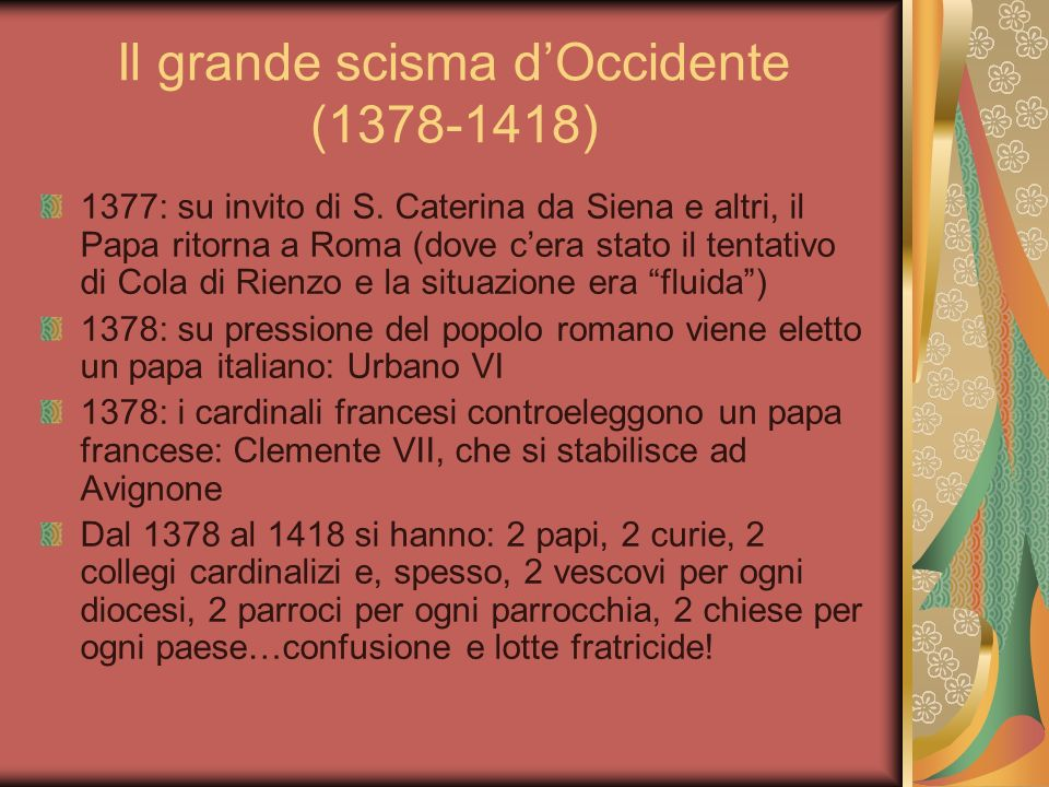 Il grande scisma d'Occidente ( )