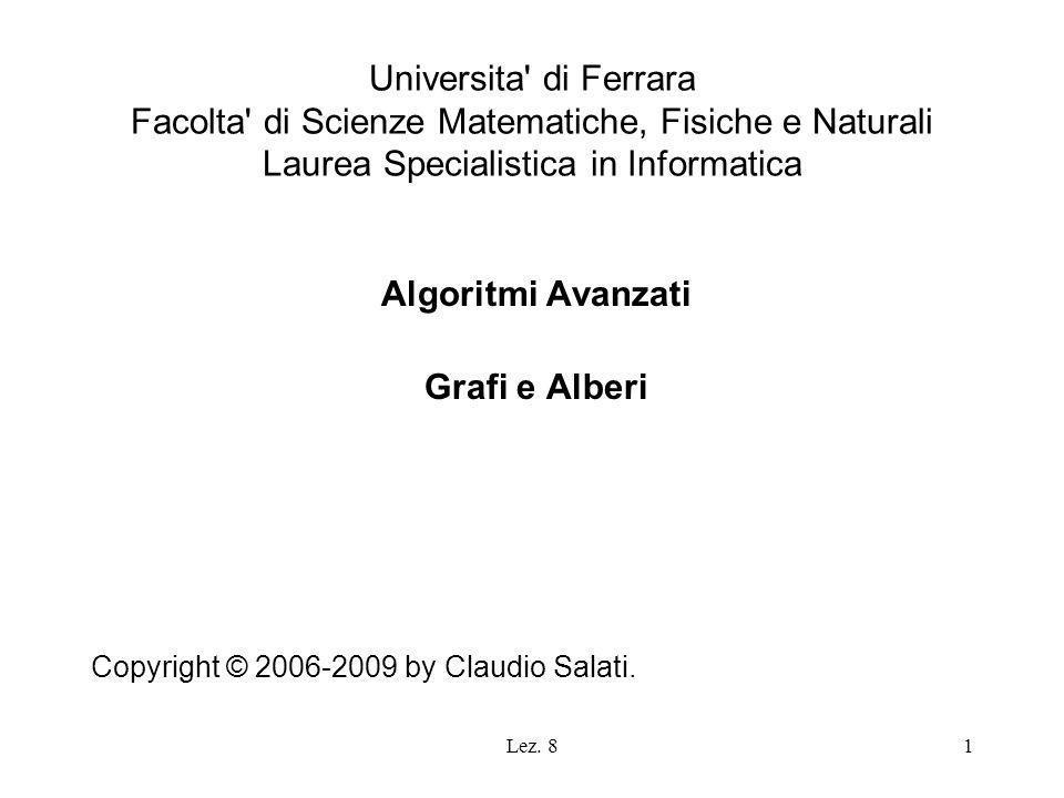 Algoritmi Avanzati Grafi e Alberi